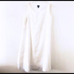 Eileen Fisher White 100% Irish linen dress, XL
